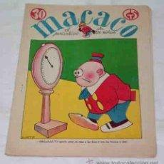 Tebeos: MACACO-Nº 74-30 JUNIO 1929-CON RECORTABLE SOLDADOS-HISTORIA MILITAR ESPAÑOLA INFANTERIA. RIBADENEYRA. Lote 53340785