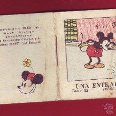 Tebeos: UNA ENTRADA PARA DOS, CALLEJA 1942, WALT DISNEY - TOMO 32 SERIE II. Lote 54288218