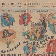 Tebeos: BIBLIOTECA FLECHAS Y PELAYOS, MARAVILLAS Nº 19. Lote 54309031