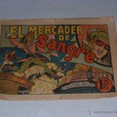 Tebeos: EL CABALLERO FANTASMA - NUMERO Nº 3 -EL MERCADER DE SANGRE - EDITORIAL SATURNO 1947 - RARO. Lote 54865905