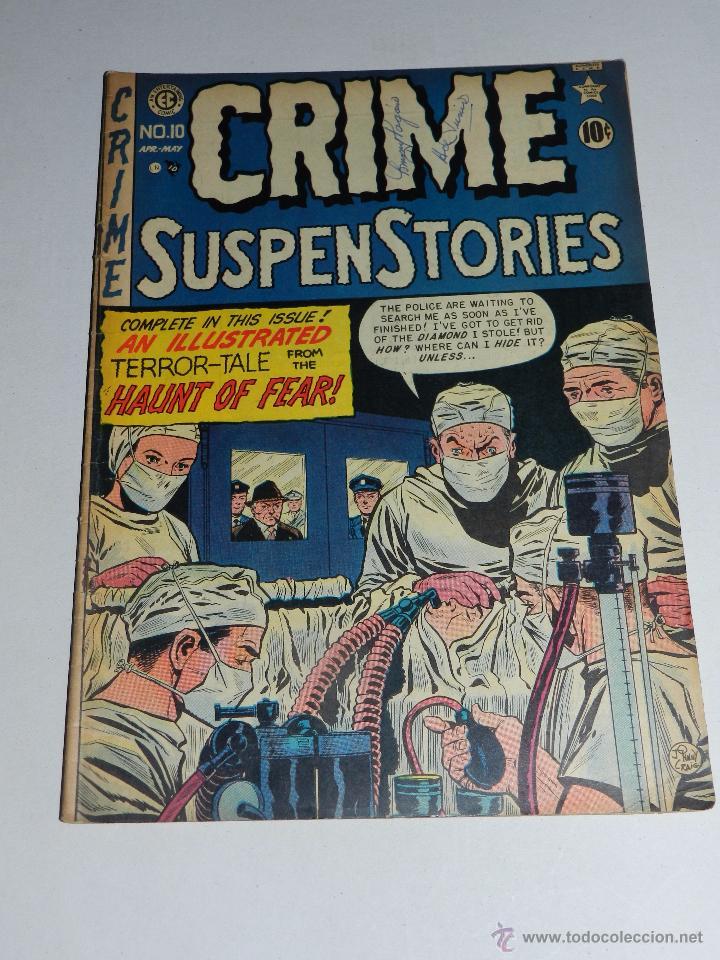(M22) CRIME SUSPENSTORIES MAY 1952 VOL 1 NUM 10 PUBLISHED BI-MONTHLY , ORIGINAL (Tebeos y Comics - Tebeos Otras Editoriales Clásicas)