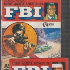 Tebeos: COLECCIÓN POLICIACA CABOT, AGENTE SECRETO DEL FBI Nº 1 Y 4. Lote 55688049