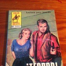 Tebeos: INDOMITO OESTE / GRAN OESTE Nº 396. ¡TERROR!. PRODUCCIONES EDITORIALES 1978. . Lote 56020427