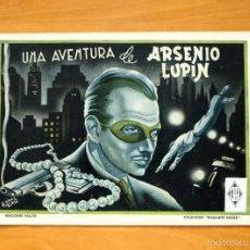 Tebeos: DIAMANTE NEGRO Nº 16-UNA AVENTURA DE ARSENIO LUPIN - EDICIONES RIALTO 1944. Lote 56826270