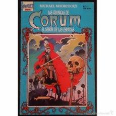 Tebeos: LAS CRÓNICAS DE CORUM Nº1 / EL SEÑOR DE LAS ESPADAS / EDICIONES FIRST 1988 (MICHAEL MOORCOCK). Lote 52614312