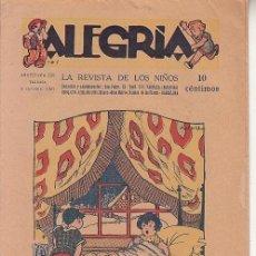Tebeos: ALEGRÍA Nº 138 - AÑO 1927 - ED. ROSSELL - MUY BUEN ESTADO . Lote 57057028