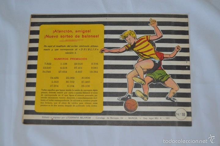 Tebeos: Colección DRIBLIN - El As del Balón - DEUDA PAGADA - NÚMERO 4 - 1961 - Litografia BELKROM - Foto 2 - 57091231