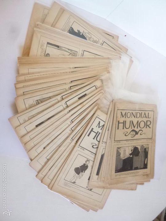 REVISTA MONDIAL HUMOR NºS 7 A 44 (FIN). COMPLETA A FALTA DE LOS NºS 1 A 6. BAGUÑA Y CORNET, 1912 (Tebeos y Comics - Tebeos Clásicos (Hasta 1.939))