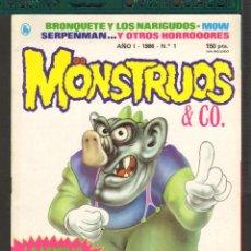 Tebeos: TEBEOS-COMICS CANDY - MONSTRUOS & CO.- Nº 1 - BRUGUERA - DIFICIL *AA99. Lote 57444227