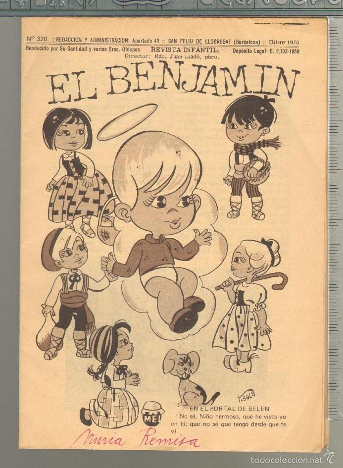 TEBEOS-COMICS GOYO - BENJAMIN - Nº 320 - REVISTA INFANTIL - 1958 - MUY RARA *AA99 (Tebeos y Comics - Tebeos Otras Editoriales Clásicas)