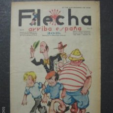 Tebeos: FLECHA - ARRIBA ESPAÑA - AÑO 1938-GUERRA CIVIL - FALANGE - NUM. 97 -RECORTABLE LA CALLE - VER FOTOS. Lote 57714988