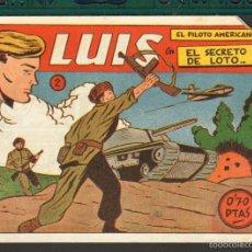 Tebeos: TEBEOS-COMICS CANDY - LUIS PILOTO AMERICANO - Nº 2 - SIMBOLO - 1953 - RARO *AA99. Lote 57737521