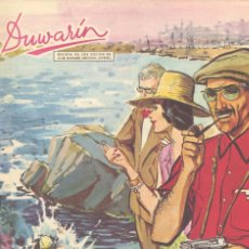 Tebeos: DUWARIN Nº10 (AÑO 1962). DIBUJOS DE BIELSA, JULIO MONTAÑÉS, ALMUSÁN, ZATA.CON CROMOS HISTORIA RELOJ . Lote 58246844