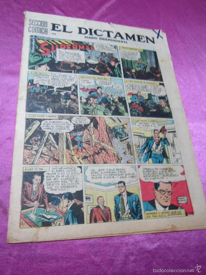SUPERMAN HOJA DOMINICAL AÑOS 40 50 27 X 38 CM, (Tebeos y Comics - Tebeos Otras Editoriales Clásicas)
