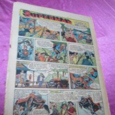 Tebeos: SUPERMAN HOJA DOMINICAL AÑOS 40 50 27 X 38 CM,. Lote 58267585