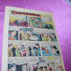 Tebeos: SUPERMAN HOJA DOMINICAL AÑOS 50 FORMATO 27 X 38 CM,. Lote 58267648