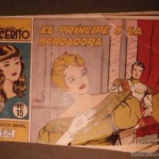 Tebeos: COMIC - LUCERITO Nº 15 - EL PRINCIPE Y LA BORDADORA -. EDITORIAL MATEU - 1959 -. Lote 58372275