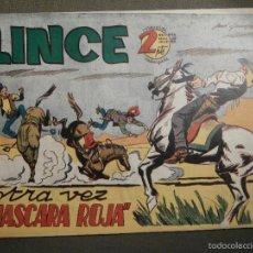 Tebeos: COMIC - LINCE Nº 13 - OTRA VEZ MASCARA ROJA - EDICIONES GEMEX - AÑO 1958. Lote 58644911