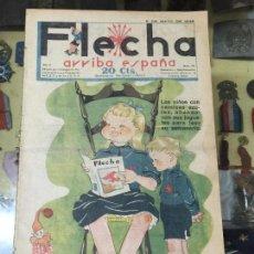 Tebeos: FLECHA - ARRIBA ESPAÑA - AÑO 1938- GUERRA CIVIL - FALANGE - NUMERO 68. Lote 62056716