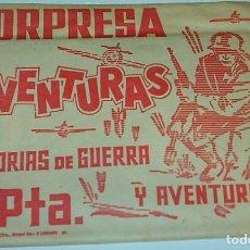 Tebeos: SOBRE SORPRESA AVENTURAS HISTORIAS DE GUERRA Y AVENTURAS - CON TEBEO SIN ABRIR PERFECTO- LEER. Lote 148176517