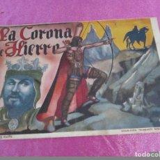Tebeos: COLECCION DIAMANTE NEGRO RIALTO LA CORONA DE HIERRO CON FOTOS DE JUGADORES DE FUTBOL MADRID ATLETICO. Lote 68755225