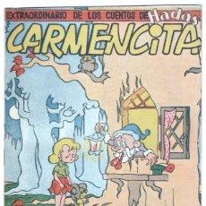 Tebeos: EXTRAORDINARIO DE LOS CUENTOS DE HADAS Nº 1 ORIGINAL - CARMENCITA - ALBERTO GENIES 1951. Lote 68785905