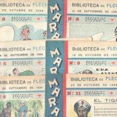 Tebeos: MARAVILLAS, BIBLIOTECA DE FLECHAS Y PELAYOS - 1939 -LOTE NºS - 3,4,5,6,7,8,9,10,11,12,13,15,16,17,18. Lote 68836597