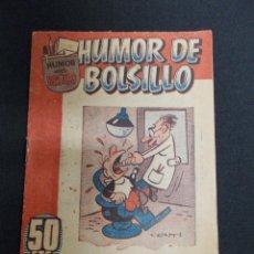 Tebeos: HUMOR DE BOLSILLO Nº 1 - ORIGINAL - CON IRANZO ENTRE OTROS DIBUJANTES -. Lote 72459727
