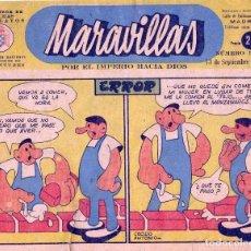 Tebeos: MARAVILLAS Nº314. FRENTE DE JUVENTUDES. BIBLIOTECA FLECHAS Y PELAYOS. SEPTIEMBRE DE 1945 . Lote 72916695