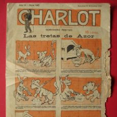 Tebeos: CHARLOT - REVISTA, SEMANARIO FESTIVO - AÑO III, Nº 143 - BARCELONA 16 NOVIEMBRE 1918.. R-5283. Lote 80702330