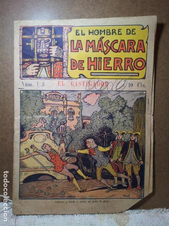 MÁSCARA DE HIERRO (EL CASTIGADOR ). EDITORIAL EL GATO NEGRO (ANTIGUA BRUGUERA). DIBUJOS DE NIEL (Tebeos y Comics - Tebeos Clásicos (Hasta 1.939))