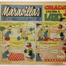 Giornalini: MARAVILLAS Nº 385 - BIBLIOTECA FLECHAS Y PELAYOS, AÑO 1947, ORIGINAL. Lote 87560434