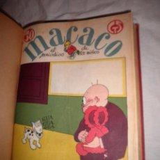 Tebeos: MACACO EL PERIODICO DE LOS NIÑOS - AÑO 1930 COMPLETO CON RECORTABLES.. Lote 82214772