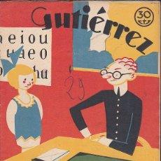 Tebeos: COMIC COLECCION GUTIERREZ Nº 29. Lote 82266972