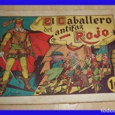 Tebeos: EL CABALLERO DEL ANTIFAZ ROJO NUMERO 1 ED. EUROPA VALENCIA 1946 ORIGINAL DE EPOCA . Lote 82977796