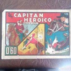 Tebeos: UN CAPITAN HEROICO. Nº 7 DE AVENTURAS CELEBRES 1942. COMERCIAL GERPLA. DIBUJOS DE TOMAS PORTO. Lote 83395560