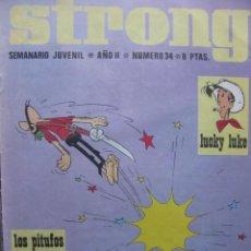 Tebeos: PPRLY - STRONG. SEMANARIO JUVENIL * AÑO II * NÚMERO 34. Lote 83915544