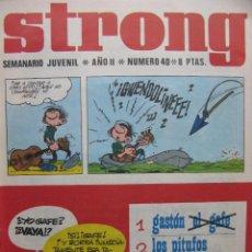 Tebeos: PPRLY - STRONG. SEMANARIO JUVENIL * AÑO II * NÚMERO 40. Lote 83916252