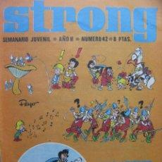 Tebeos: PPRLY - STRONG. SEMANARIO JUVENIL * AÑO II * NÚMERO 42. Lote 83917444