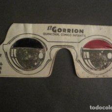 Tebeos: EL GORRION -GAFAS TRIDIMENSIONALES -VER FOTOS -(V-10.693). Lote 84362484