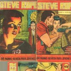 Tebeos: STEVE ROPER NºS - 6,7 Y 8 ÚLTIMO - FERMA 1960. Lote 85733432