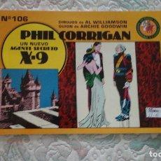 Tebeos: PHIL CORRIGAN, UN NUEVO AGENTE SECRETO X-9 Nº 106, DE WILLIAMSON Y GOODWIN (ED. ESEUVE. ART COMICS). Lote 85892816