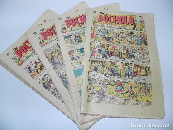POCHOLO, LOTE DE TEBEOS DESDE EL NUMERO 145 AL 153 Y DEL NUMERO 155 AL NUMERO 164, EN TOTAL 19 TEBE (Tebeos y Comics - Tebeos Clásicos (Hasta 1.939))