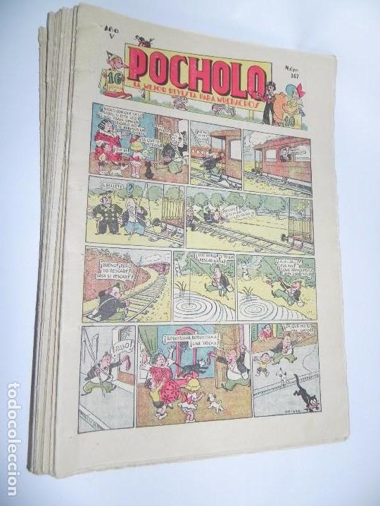 POCHOLO, LOTE DE TEBEOS DESDE EL NUMERO 167 AL 183 Y DEL NUMERO 185 AL NUMERO 189, EN TOTAL 22 TEBE (Tebeos y Comics - Tebeos Clásicos (Hasta 1.939))