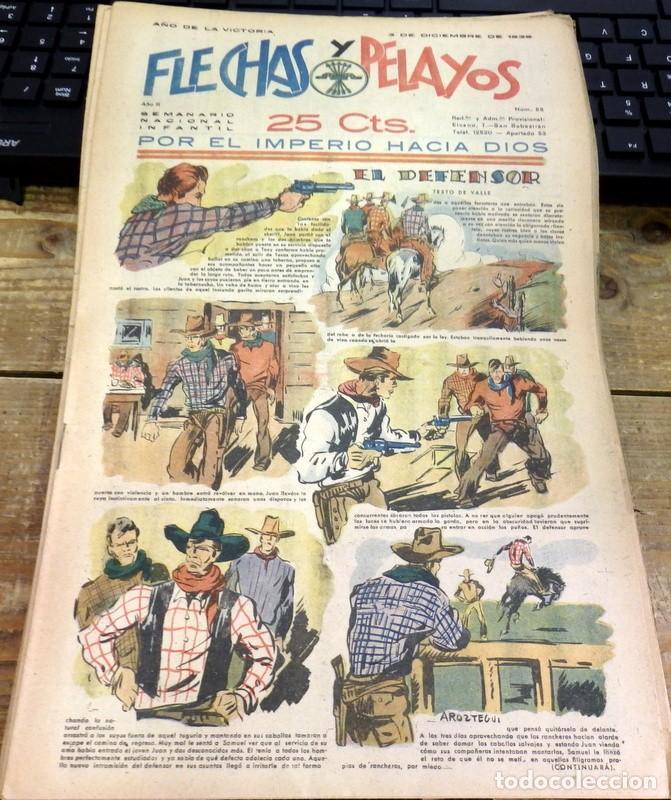 FLECHAS Y PELAYOS - AÑO II, NUMERO 52 (Tebeos y Comics - Tebeos Clásicos (Hasta 1.939))