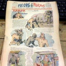 Tebeos: FLECHAS Y PELAYOS - AÑO III, NUMERO 65. Lote 91248725