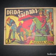 Tebeos: MASCARA VERDE Nº11 (1949, CIES). Lote 92098710