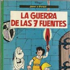 Tebeos: JANO Y PIRLUIT: LA GUERRA DE LAS 7 FUENTES, 1971, ARGOS, BUEN ESTADO. Lote 93725010