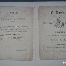 Tebeos: HISTORIETAS ILUSTRADAS G BUSCH 1881 C VERDAGUER BARCELONA CUADERNO UNO 1. Lote 94591067