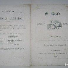 Tebeos: HISTORIETAS ILUSTRADAS G BUSCH 1881 C VERDAGUER BARCELONA CUADERNO CINCO 5. Lote 94591359
